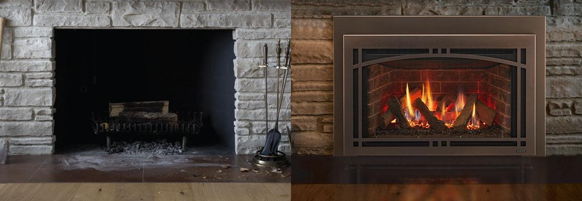 Fireplace Inserts Majestic Products, Wood Fireplace Gas Insert