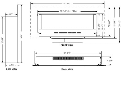 SimpliFire Wall-Mount Fireplace Products - Majestic Products