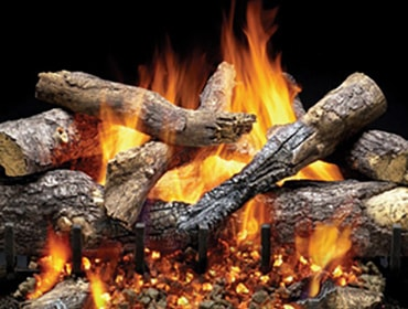 Outdoor Grand Oak Gas Log Set