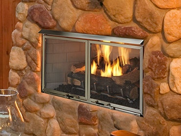 Villa Gas Outdoor Fireplace